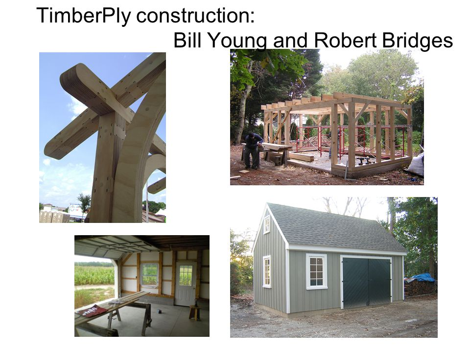 TimberPly construction: Bill Young and Robert Bridges