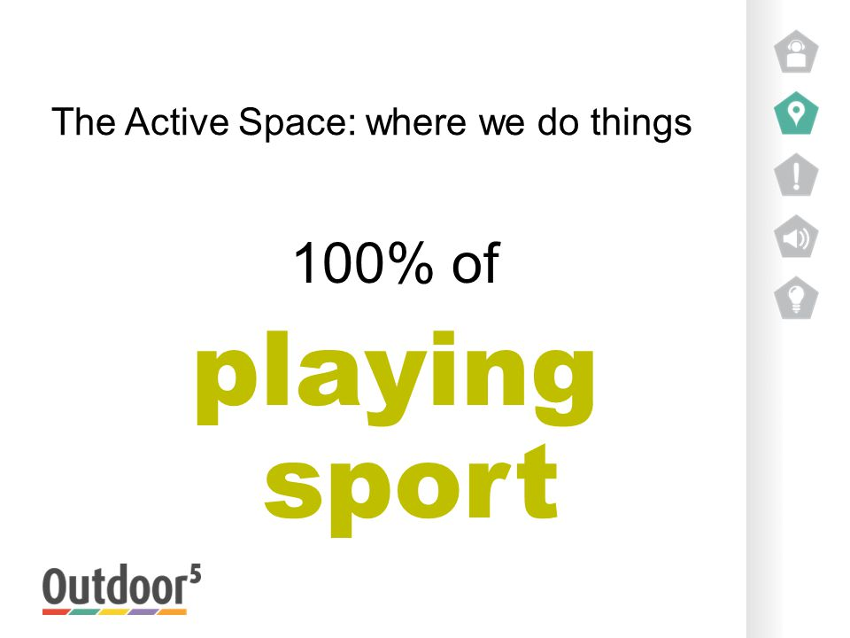 The Active Space: where we do things 100% of playing sport