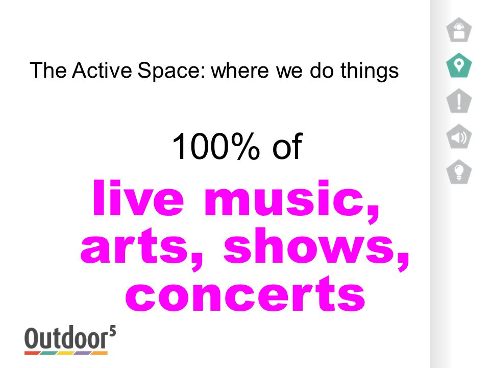 The Active Space: where we do things 100% of live music, arts, shows, concerts