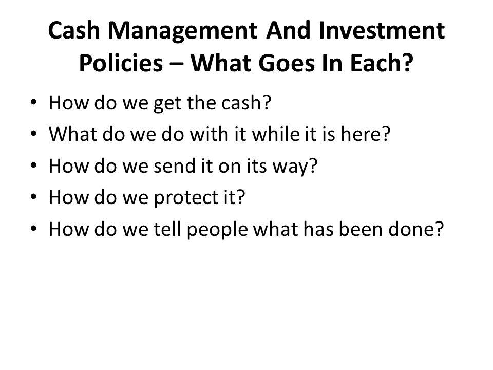 How Do We Get The Cash (Cash Receipts).