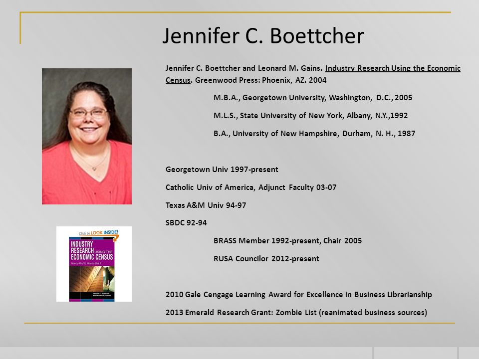 Jennifer C. Boettcher Jennifer C. Boettcher and Leonard M.
