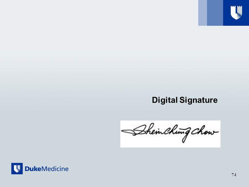 Digital Signature 74
