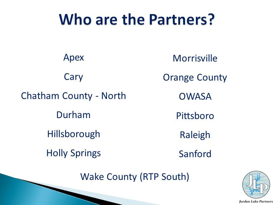Apex Cary Chatham County - North Durham Hillsborough Holly Springs Morrisville Orange County OWASA Pittsboro Raleigh Sanford Wake County (RTP South)