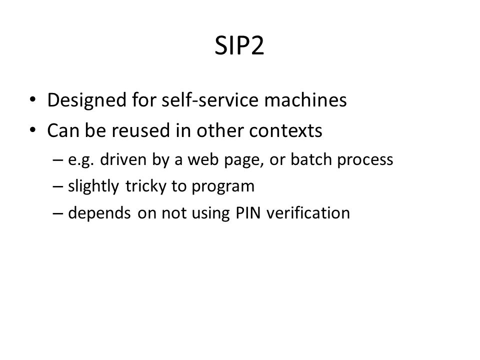SIP2: what can it do.