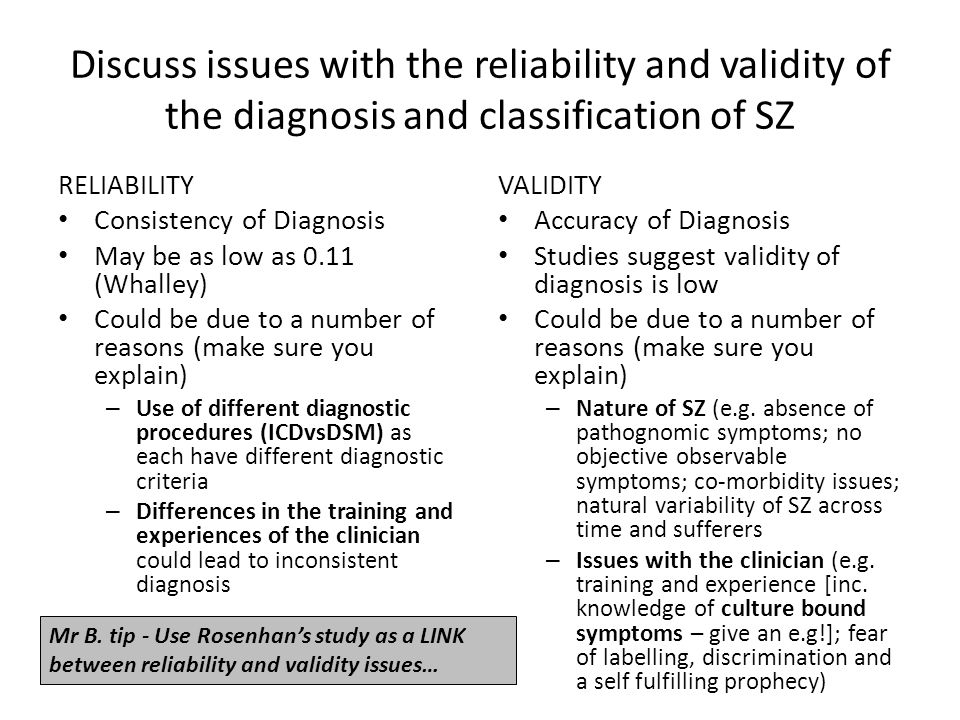 Discuss Psychological Explanations of SZ EVALUATION EVIDENCE E.g.