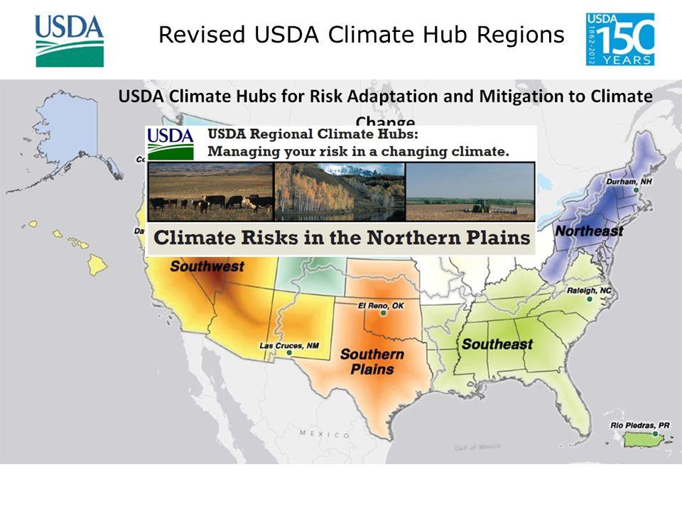 Revised USDA Climate Hub Regions