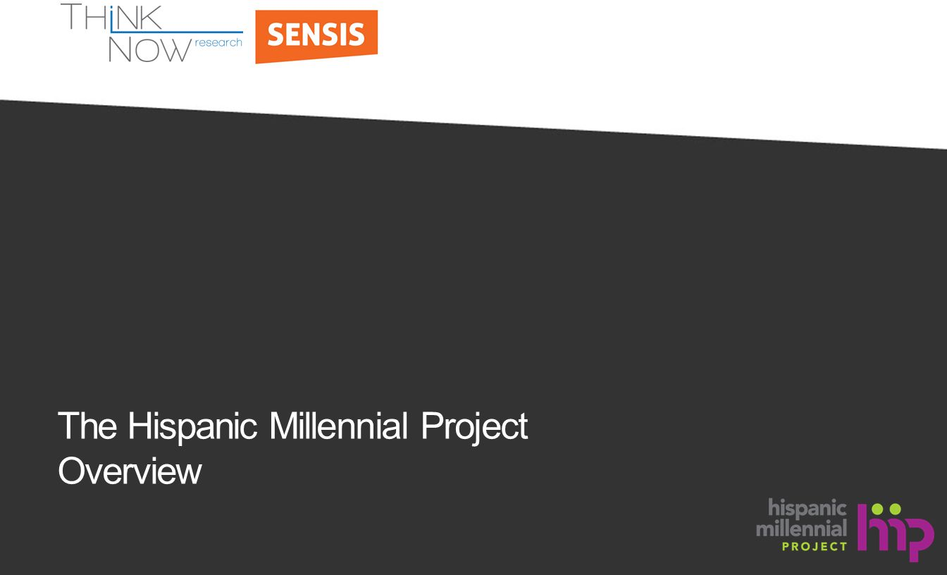 The Hispanic Millennial Project Overview