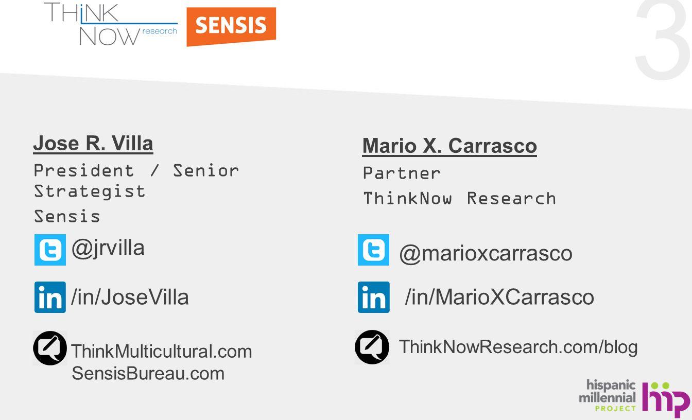 3 Jose R. Villa President / Senior Strategist Sensis Mario X.