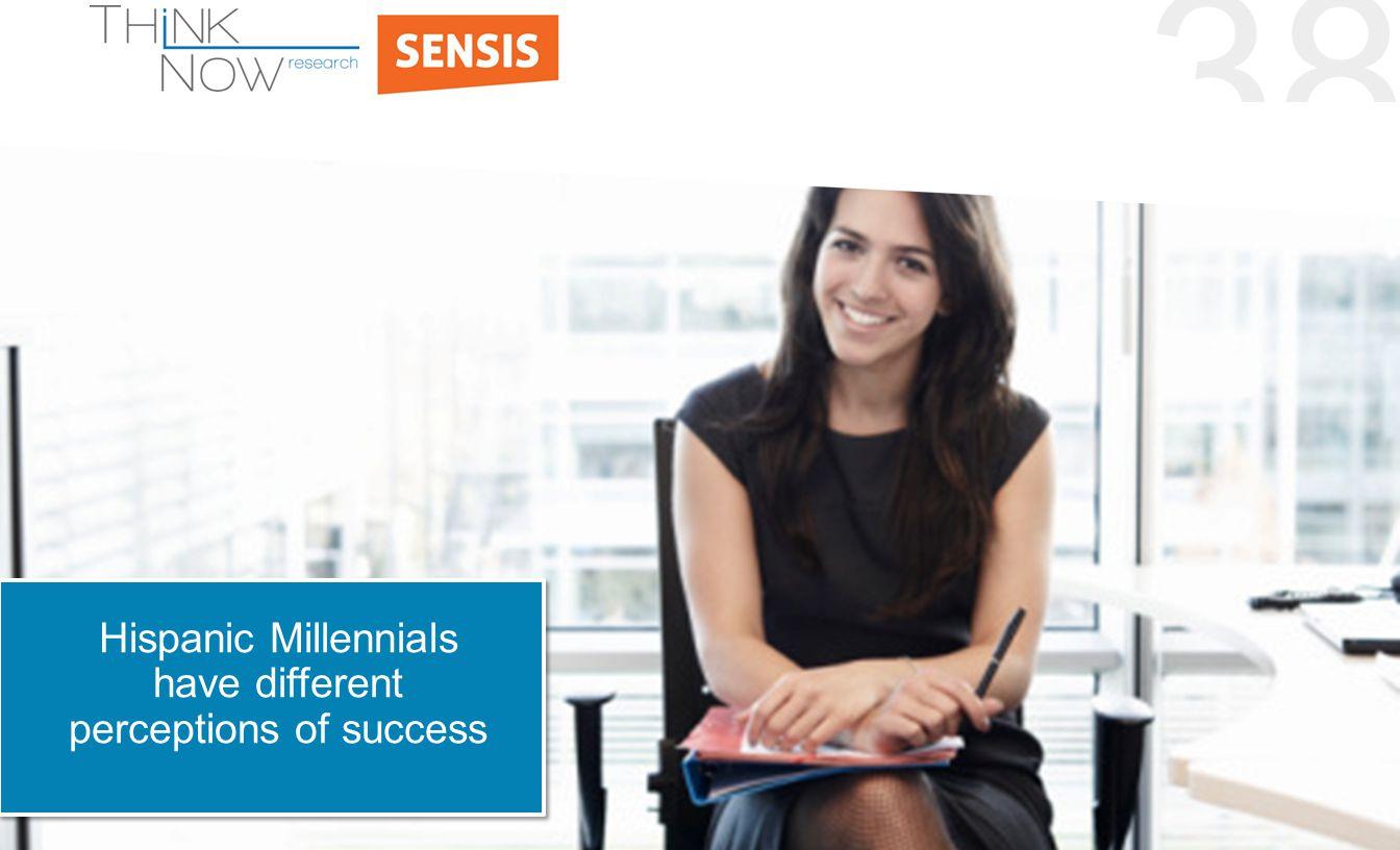 38 Hispanic Millennials have different perceptions of success