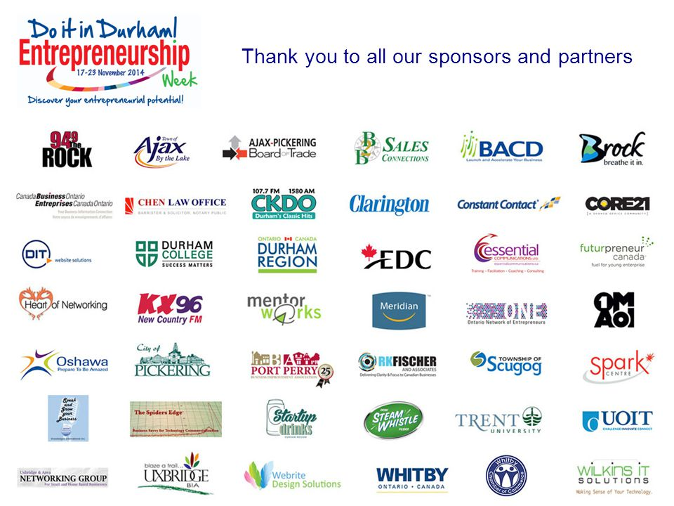 Thank you to all our sponsors and partners