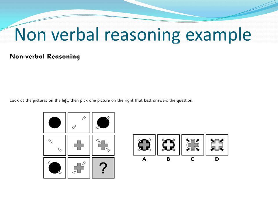 Non verbal reasoning example