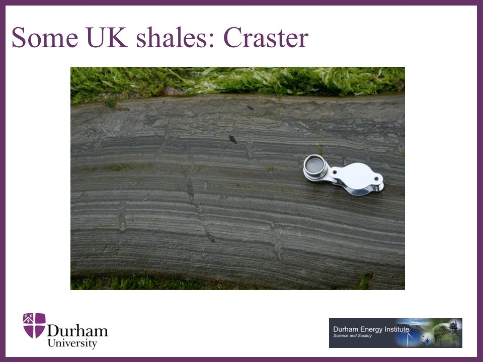 ∂ Some UK shales: Craster