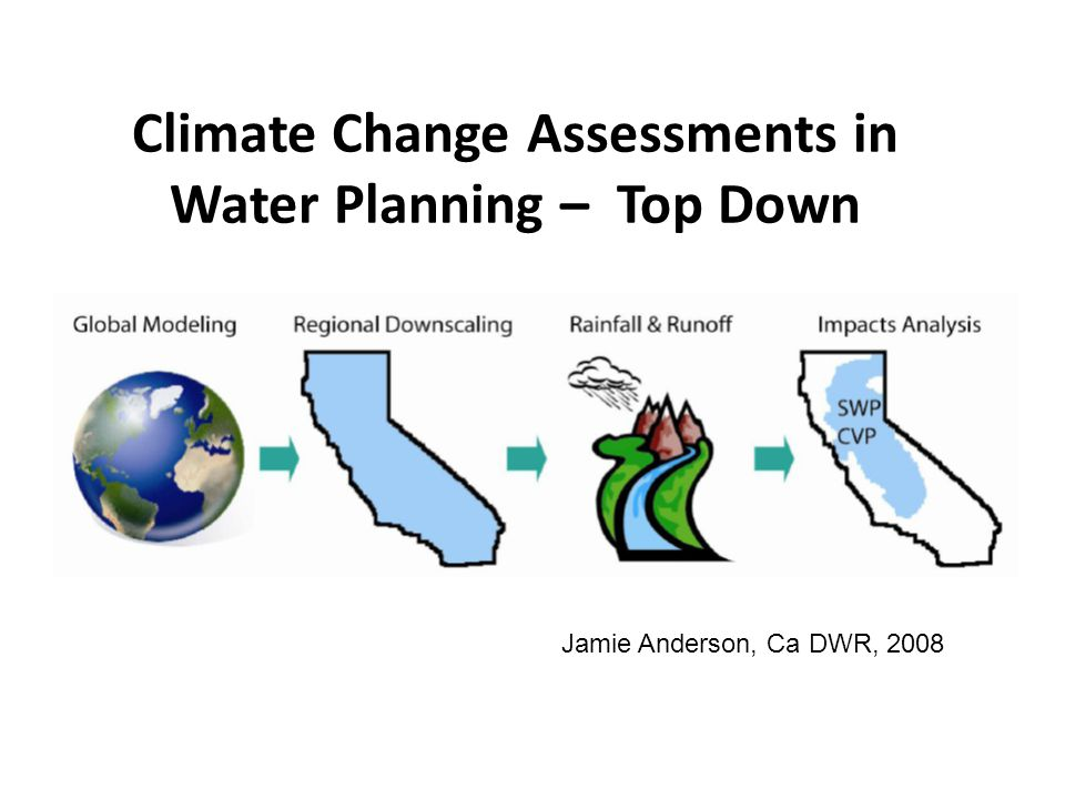 Climate Change Assessments in Water Planning – Top Down Jamie Anderson, Ca DWR, 2008