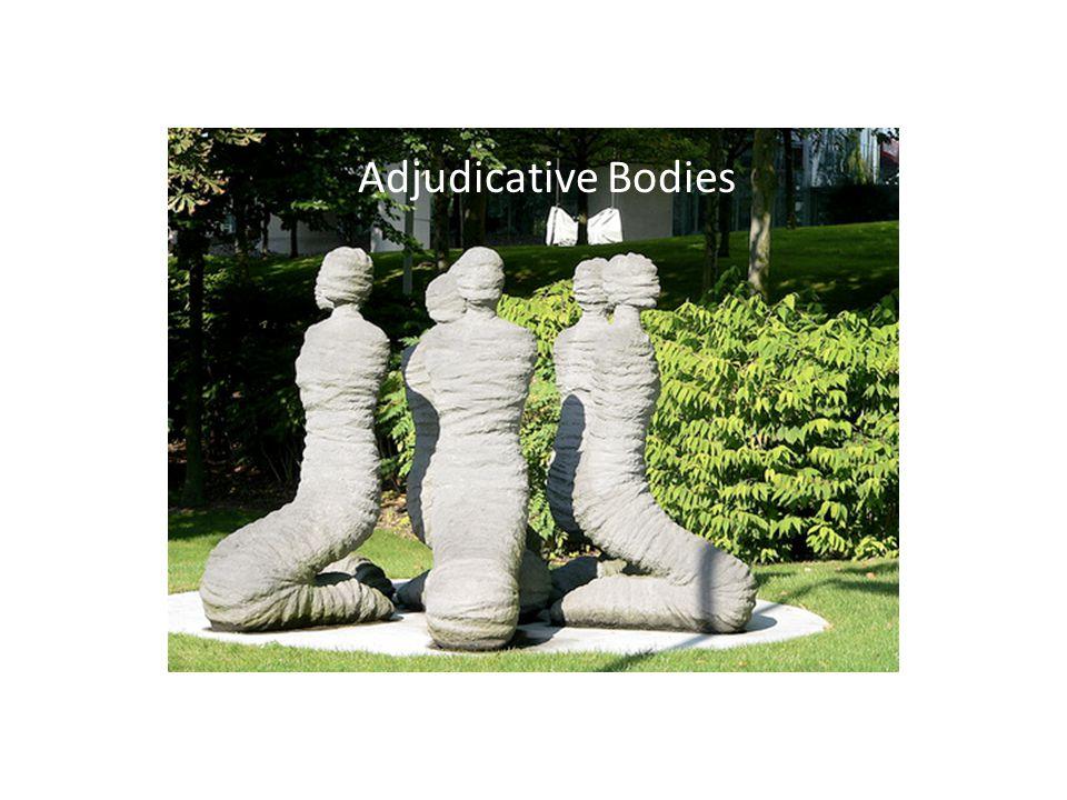 Adjudicative Bodies