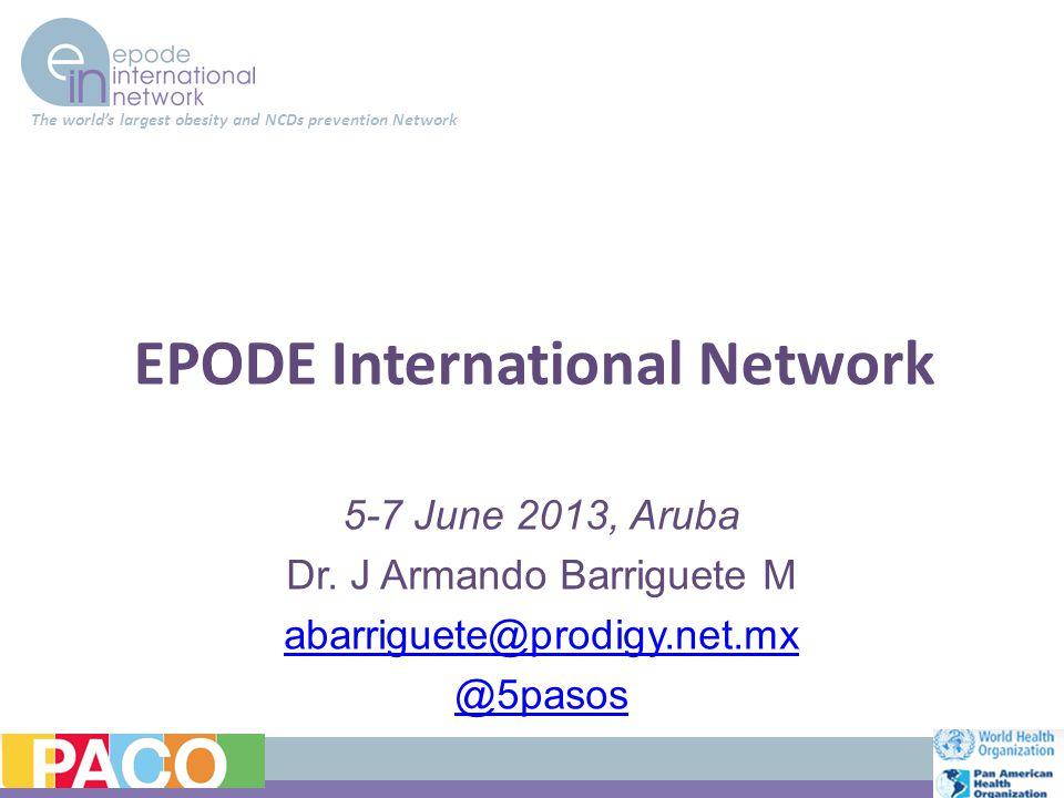 EPODE International Network 5-7 June 2013, Aruba Dr.