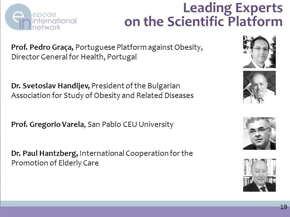 Leading Experts on the Scientific Platform 19 Prof.