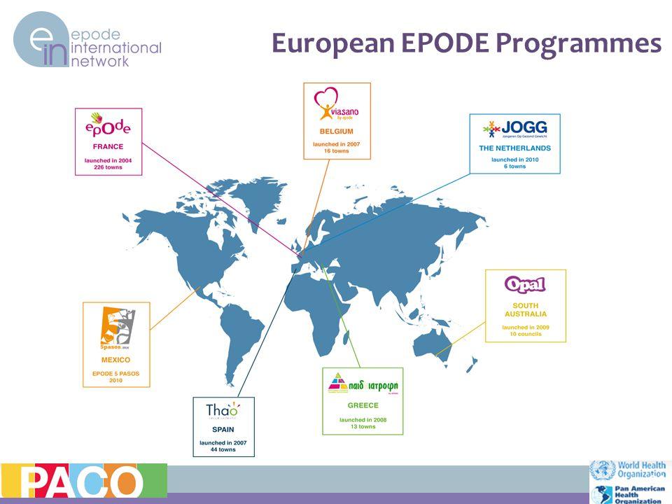 European EPODE Programmes 21