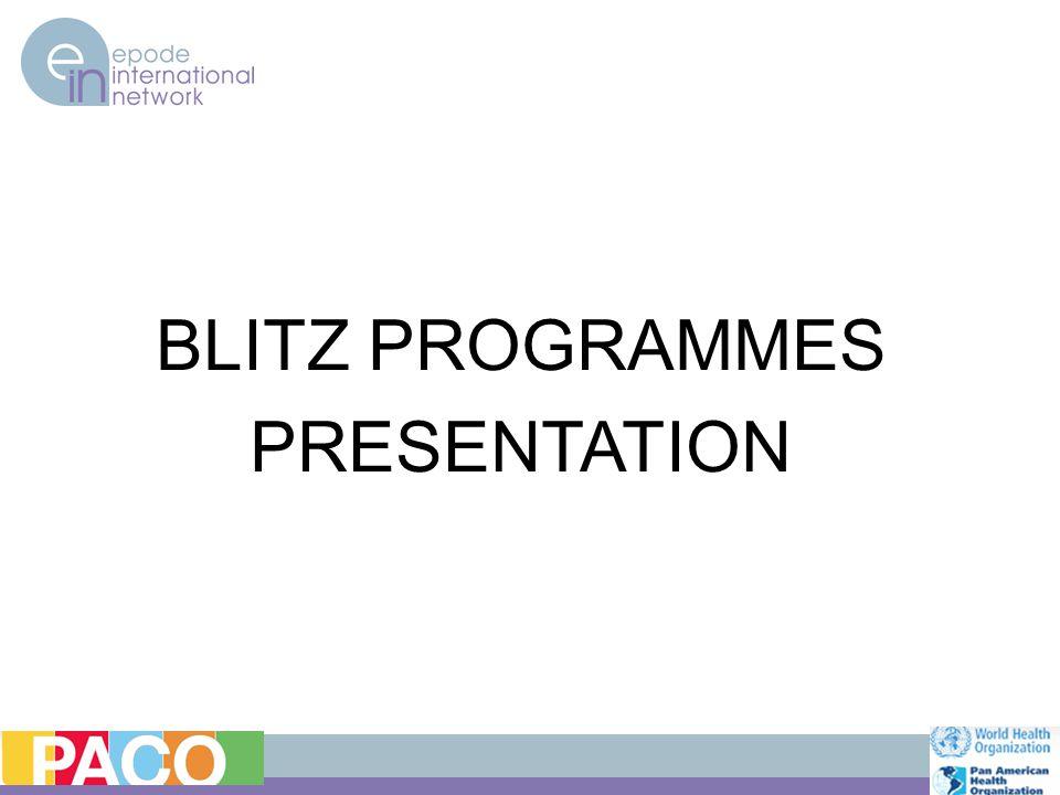 BLITZ PROGRAMMES PRESENTATION