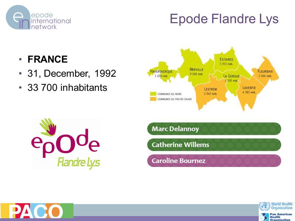 Epode Flandre Lys FRANCE 31, December, 1992 33 700 inhabitants Marc Delannoy Catherine Willems Caroline Bournez