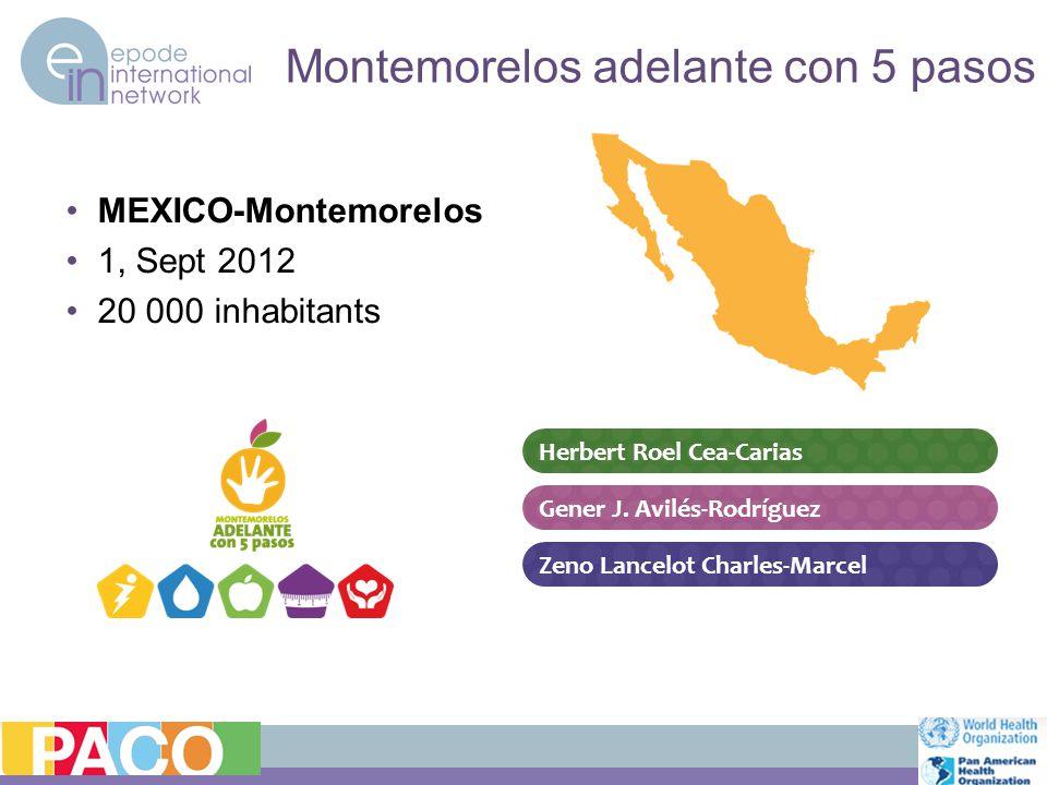 Montemorelos adelante con 5 pasos MEXICO-Montemorelos 1, Sept 2012 20 000 inhabitants Zeno Lancelot Charles-Marcel Herbert Roel Cea-Carias Gener J.
