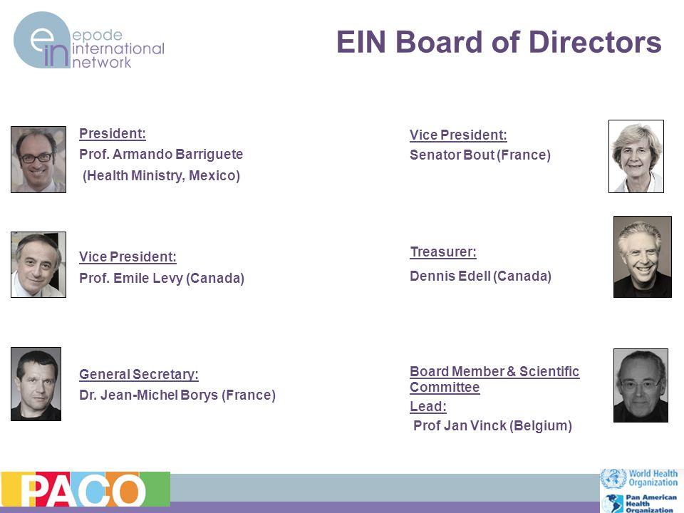 EIN Board of Directors President: Prof.