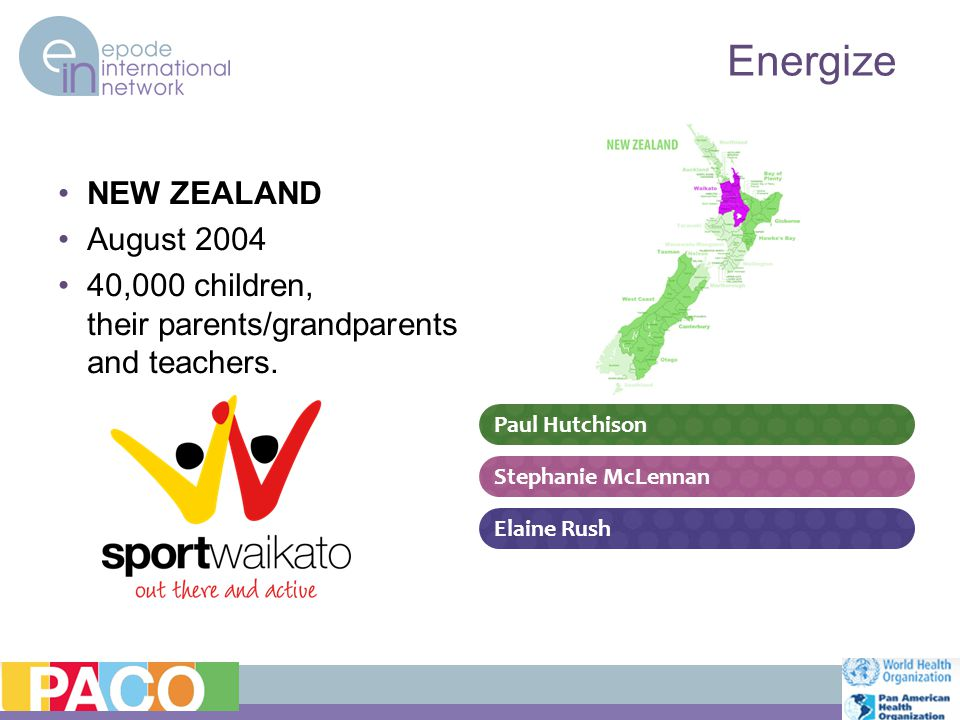 NEW ZEALAND August 2004 40,000 children, their parents/grandparents and teachers.