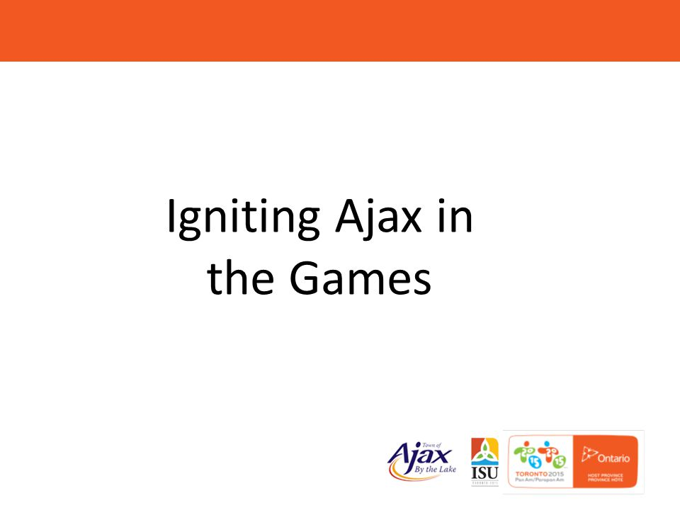 3 ABOUT THE 2015 PAN AM GAMES  Pan Am – July 10-26  41 nations  16 municipalities hosting events  36 sports  Ajax hosting baseball & softball.