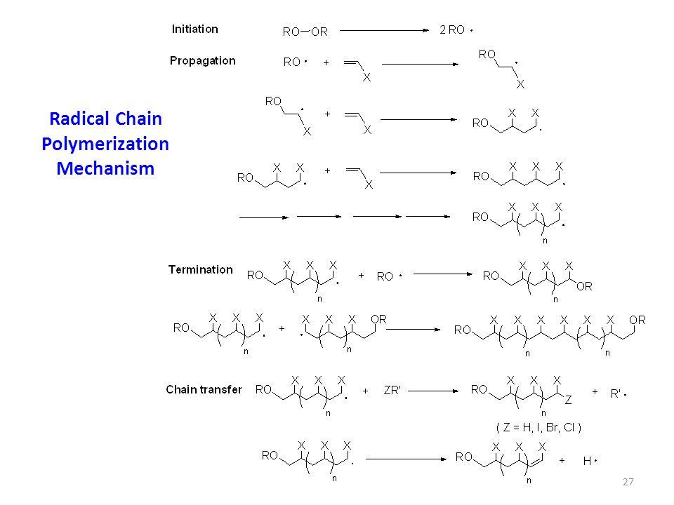 Radical Chain Polymerization Mechanism 27