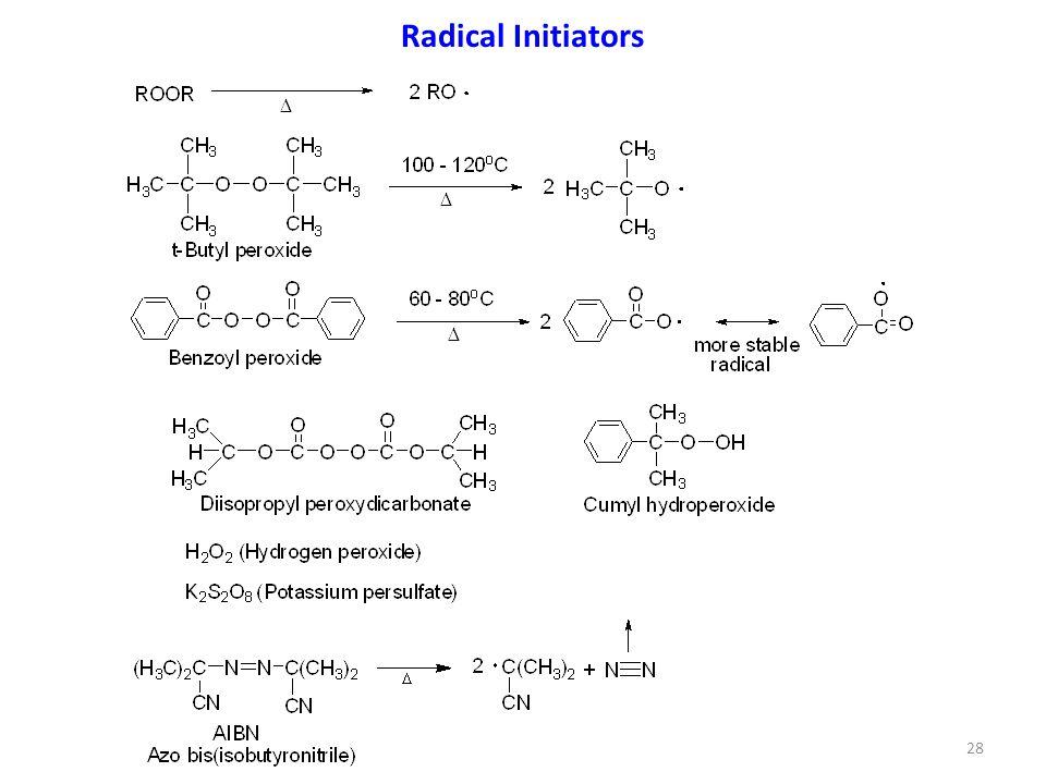 Radical Initiators 28