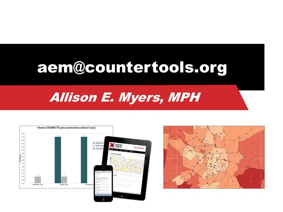 aem@countertools.org Allison E. Myers, MPH
