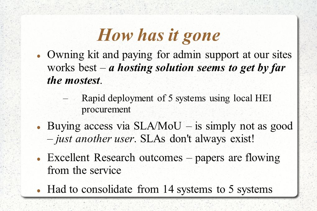 New Systems III Final System Specs below.