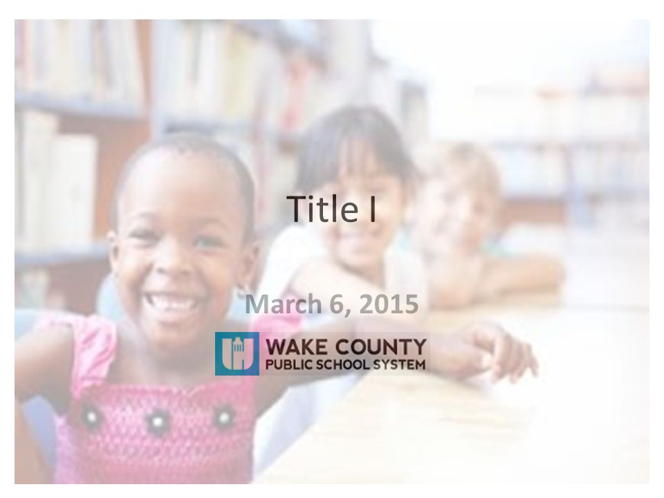 Title I March 6, 2015