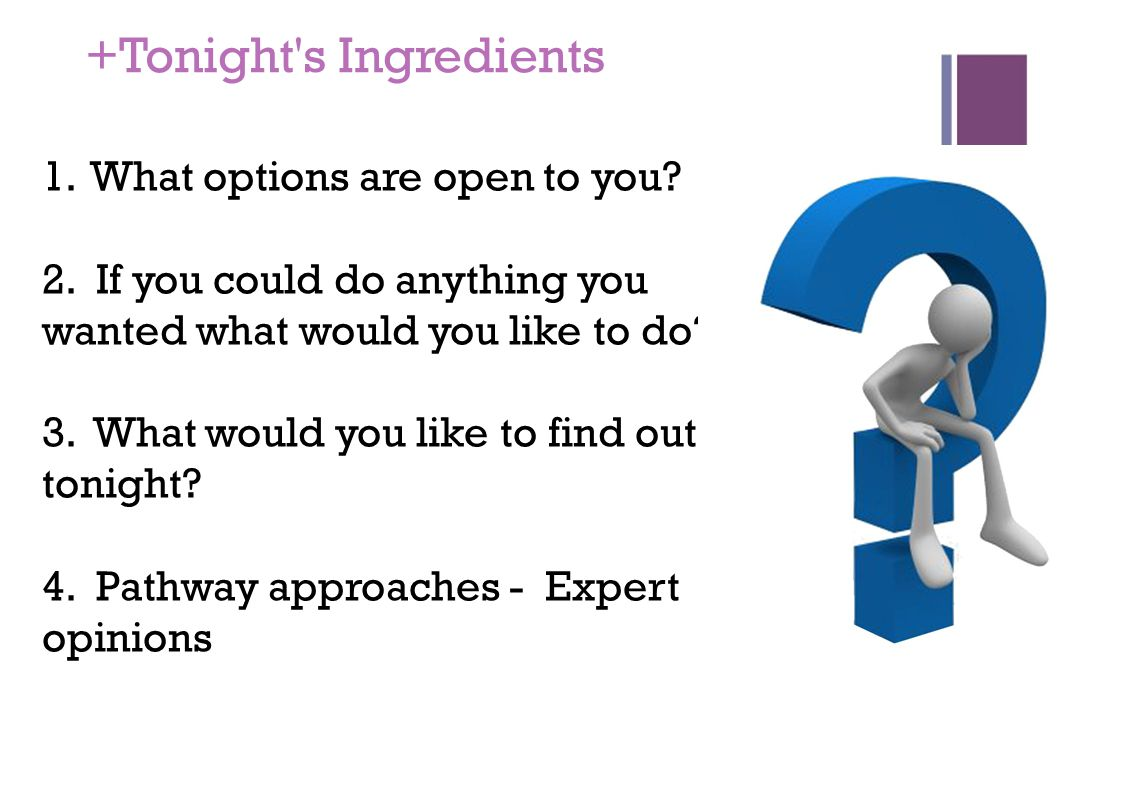 +Tonight s Ingredients 1.What options are open to you.