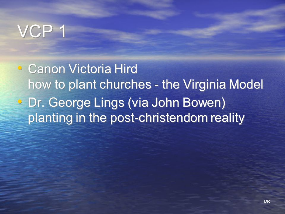 VCP 1 Canon Victoria Hird how to plant churches - the Virginia Model Dr.