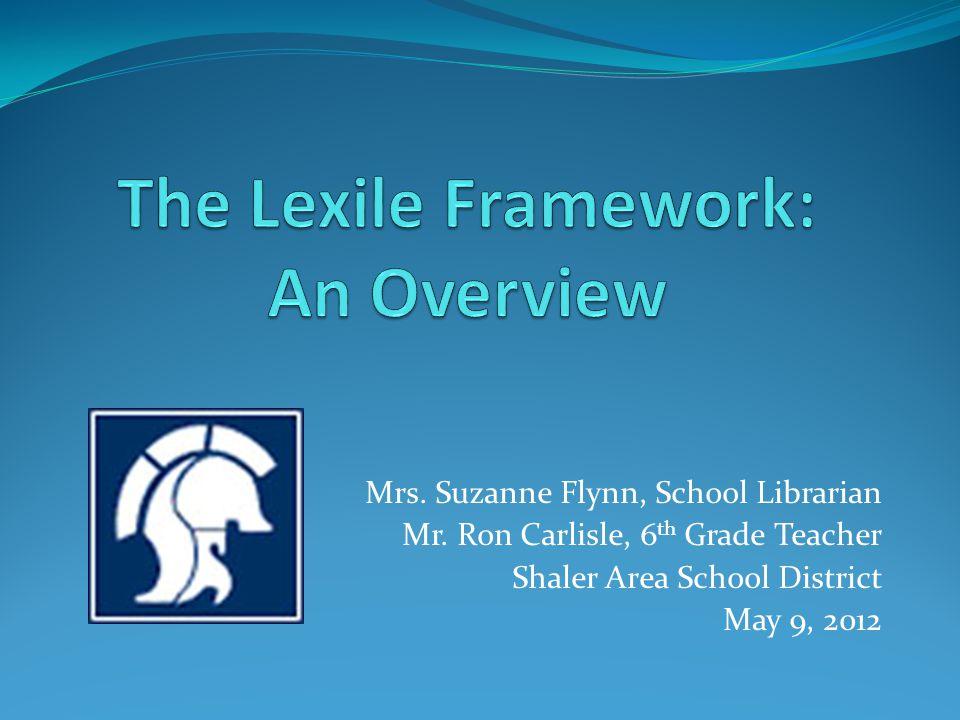 Mrs. Suzanne Flynn, School Librarian Mr. Ron Carlisle, 6 th Grade Teacher Shaler Area School District May 9, 2012