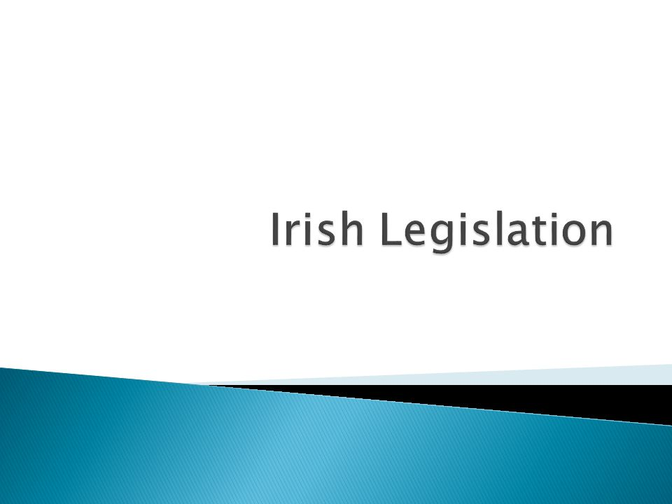  Principal Investigator ◦ Oversees/Directs all legislative responsibilities  Lecturer ◦ Understand legislation at a detailed level  Student ◦ Understand the limits imposed by legislation  User ◦ Brief understanding of legislation  Institution ◦ Defines codes of practice for user from legislation