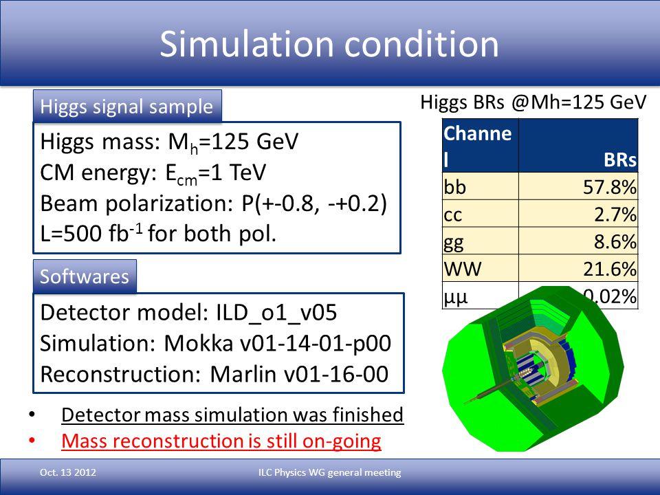 Simulation condition Oct.