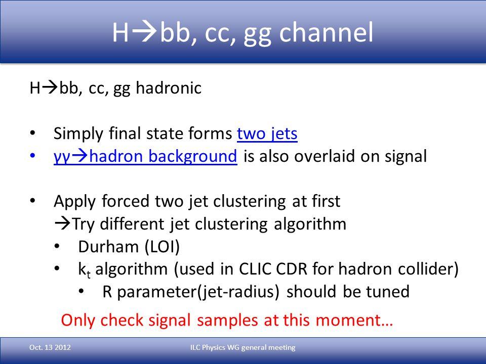 H  bb, cc, gg channel Oct.