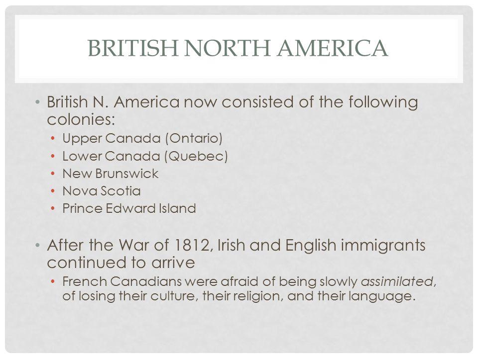 BRITISH NORTH AMERICA British N.