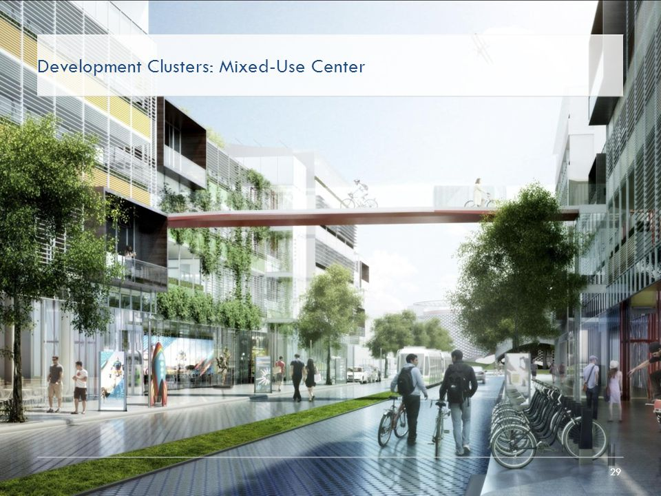 29 Development Clusters: Mixed-Use Center