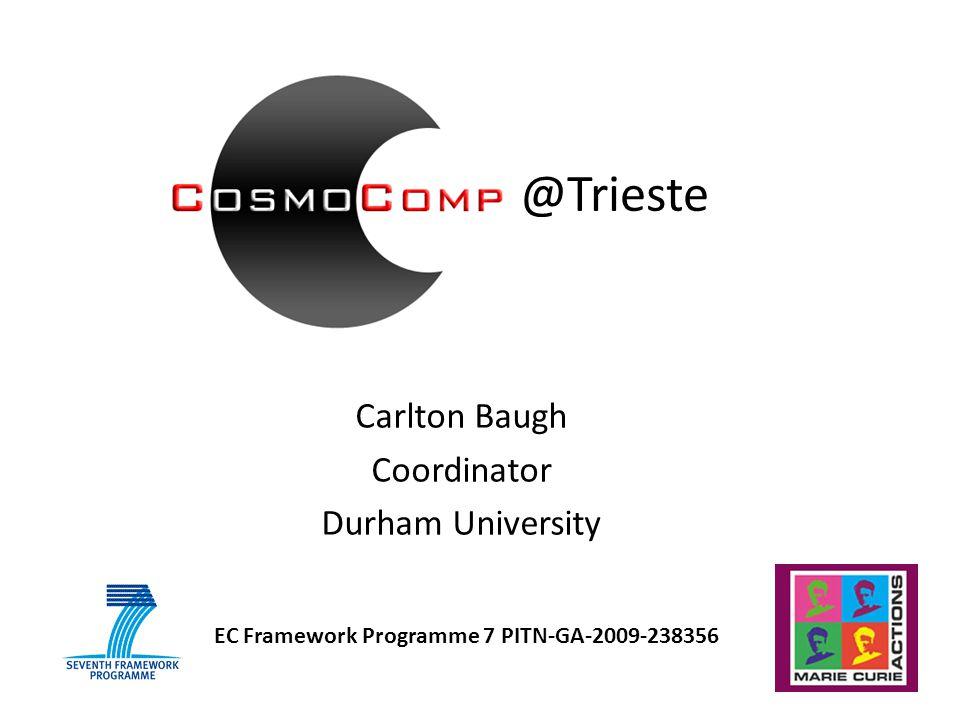 Carlton Baugh Coordinator Durham University EC Framework Programme 7 PITN-GA-2009-238356 @Trieste
