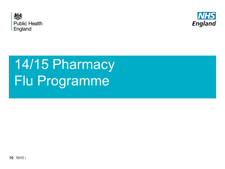 14/15 Pharmacy Flu Programme NHS |10