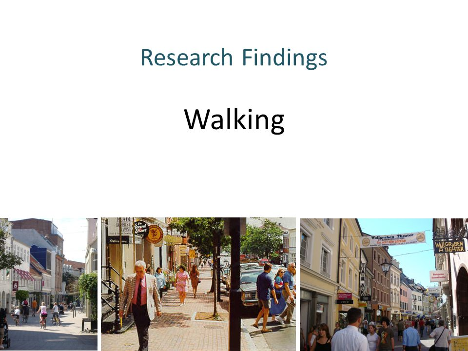 Research Findings Walking