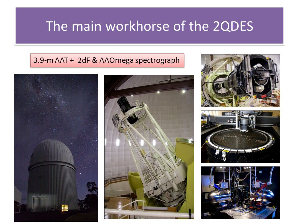 The main workhorse of the 2QDES 3.9-m AAT + 2dF & AAOmega spectrograph