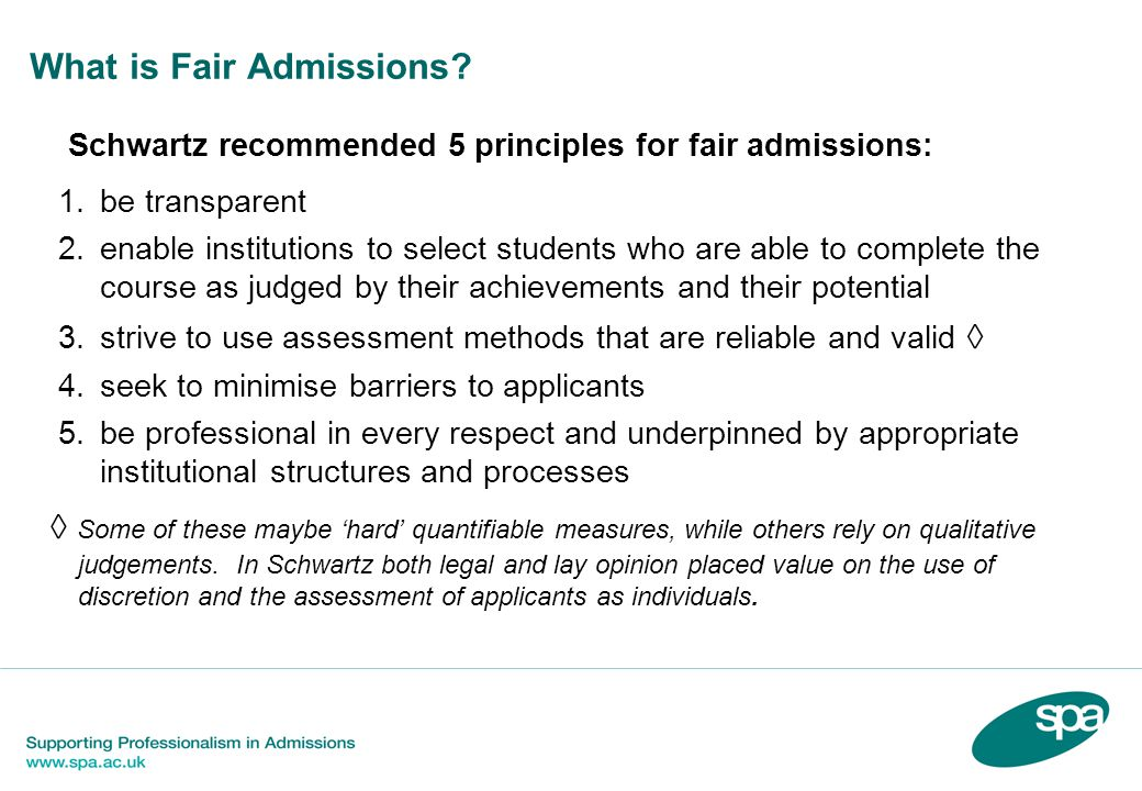 What is Fair Admissions.