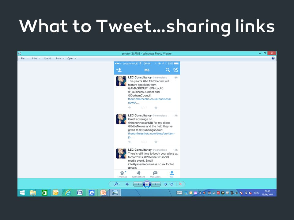 What to Tweet…sharing links