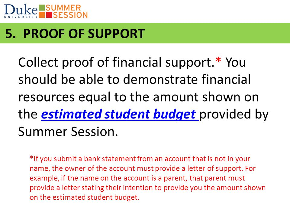 Mail the following documents TOGETHER directly to Duke Summer Session (address on next slide): 1.Webform signature page.