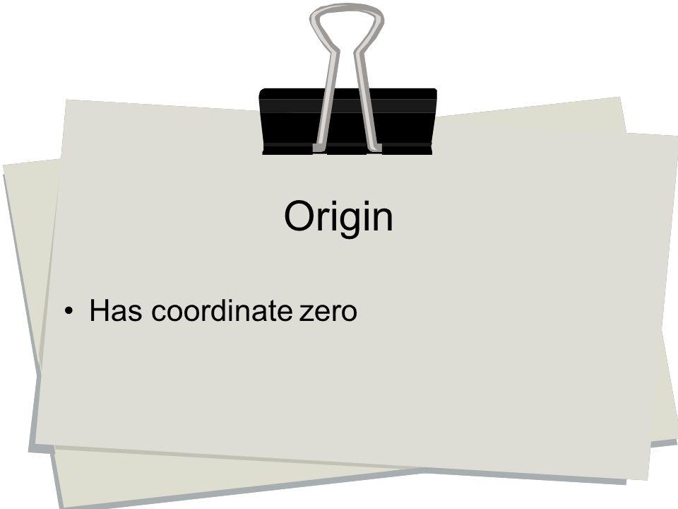 Has coordinate zero