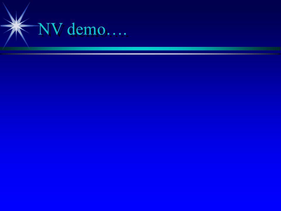 NV demo….