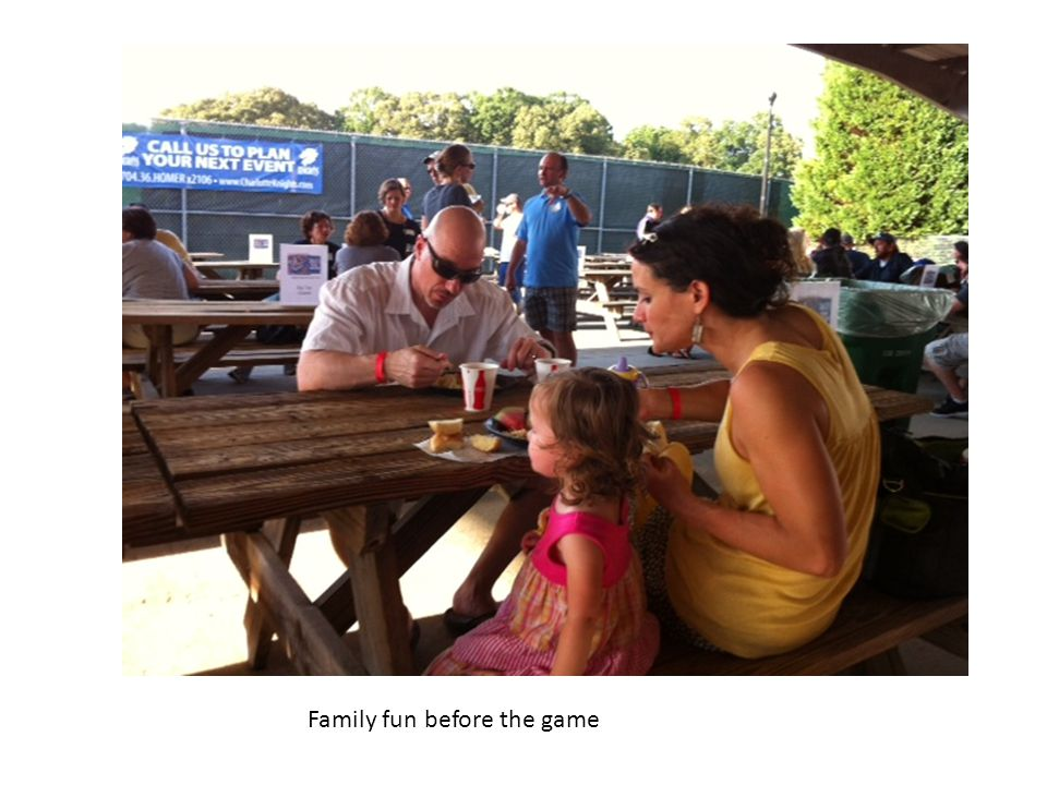 Family fun before the game